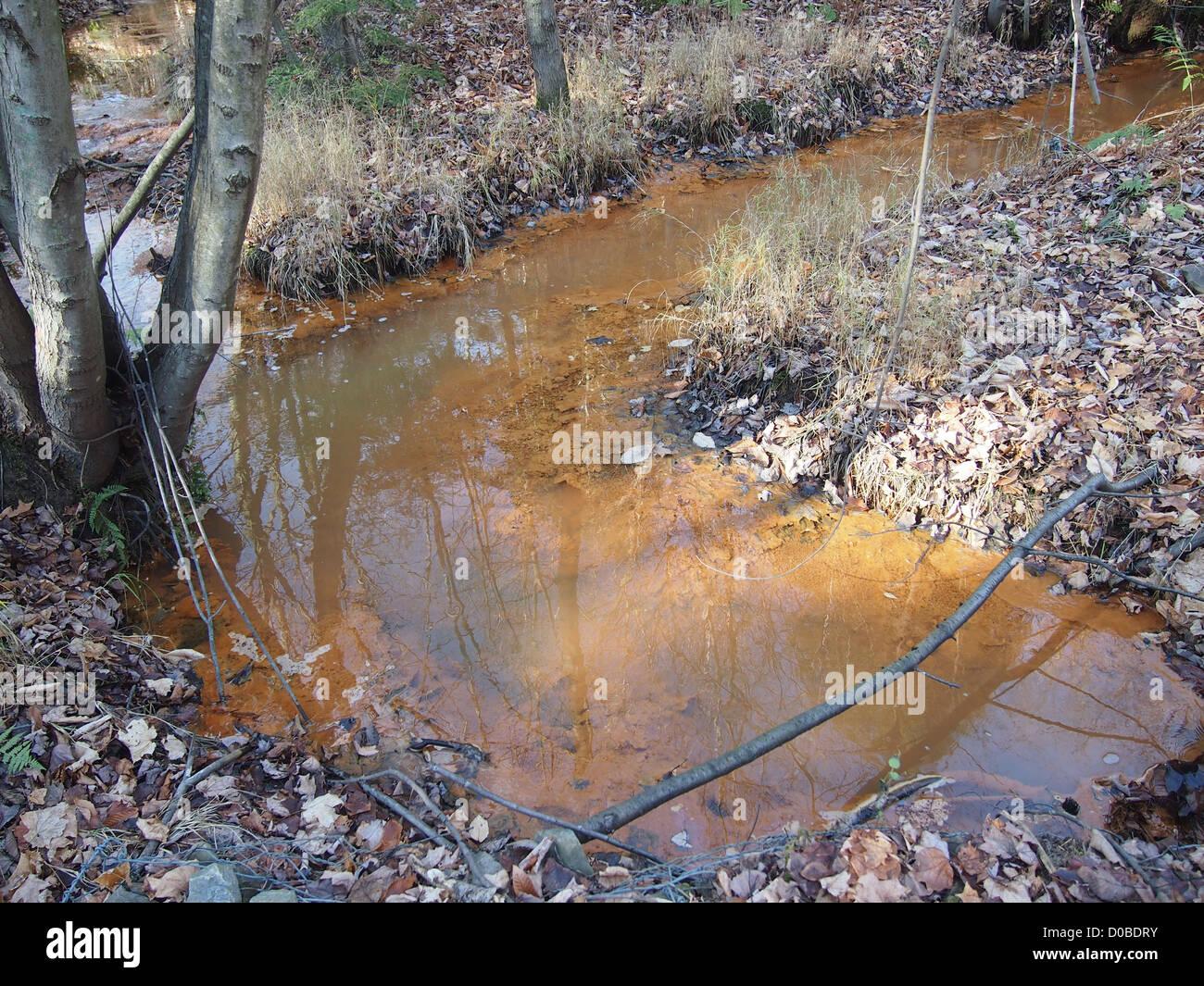 Contaminated water - Stock Image