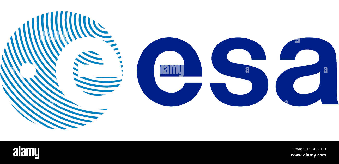 Logo of the European Space Agency ESA based in Paris. - Stock Image