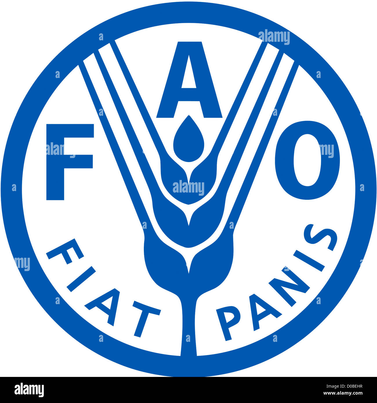 Logo of the Food and Agriculture Organization FAO of the United Nations based in Rome. - Stock Image
