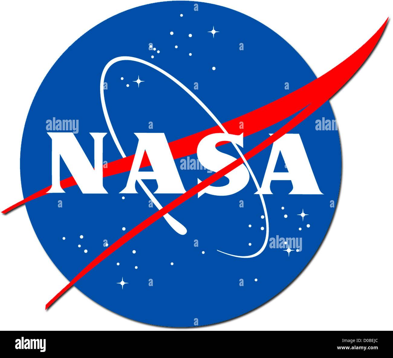 Logo of the company NASA - National Aeronautics and Space Administration. - Stock Image
