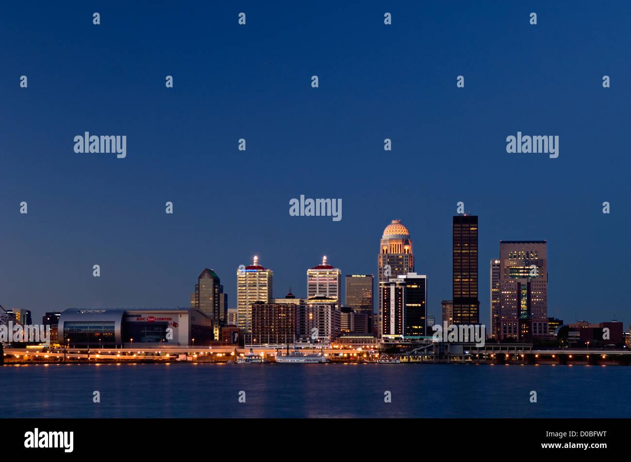 Louisville Kentucky Skyline at Dawn - Stock Image