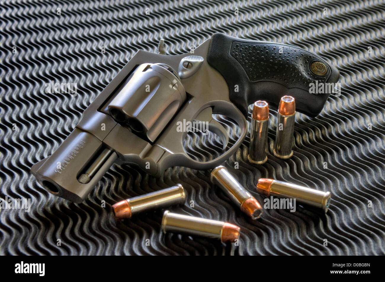 Taurus Model 856 Snub Nose 38 Special Revolver Stock Photo