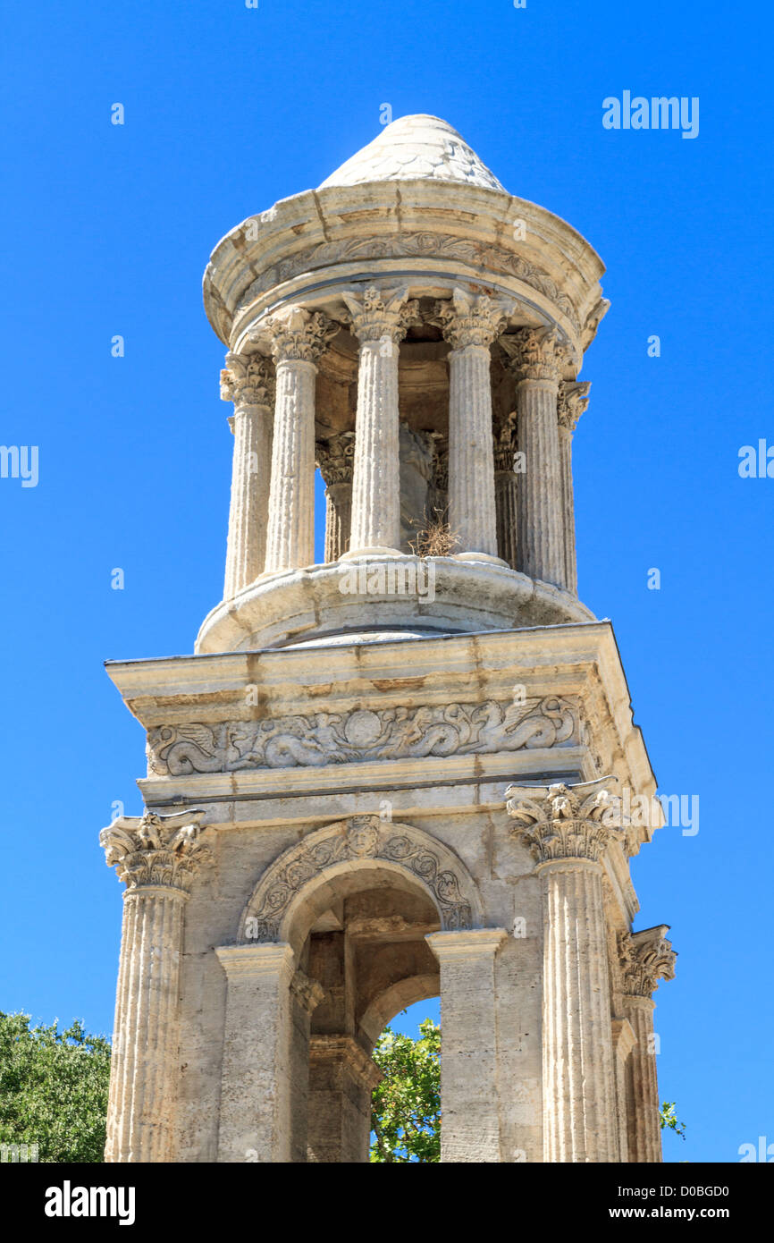 Roman City of Glanum, Triumphal Arch and Cenotaph, Saint-Remy-de-Provence, France - Stock Image
