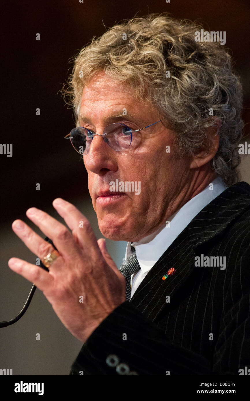 Roger Daltrey, lead singer of The Who.  - Stock Image