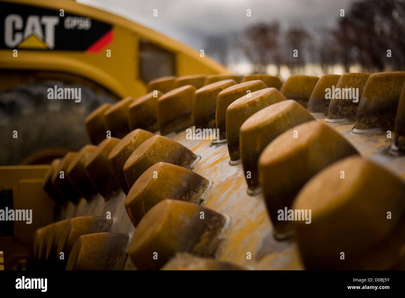 Caterpillar Dirt Compactor Stock Photo