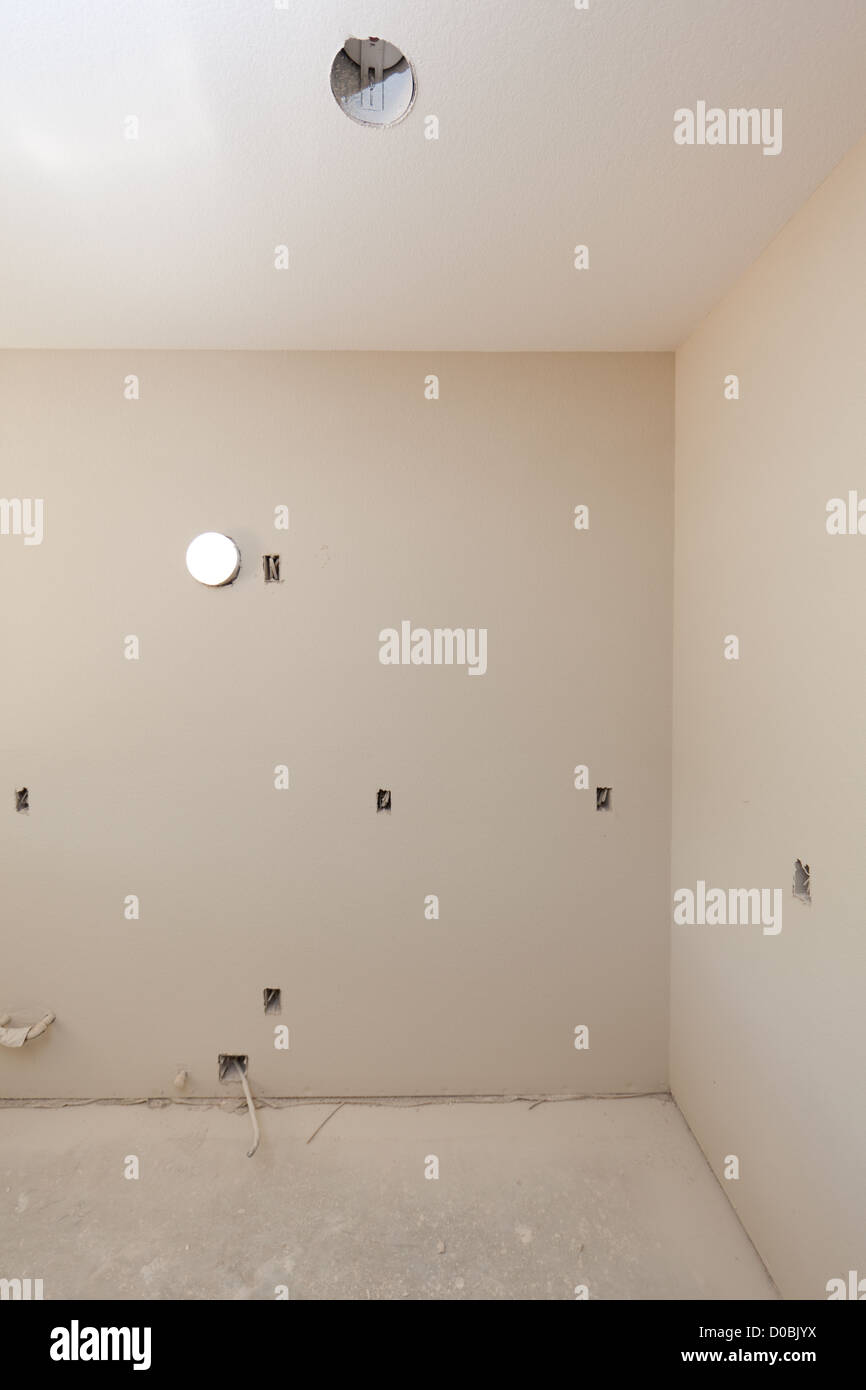 Location interior photos of a construction site where new homes are being built. - Stock Image