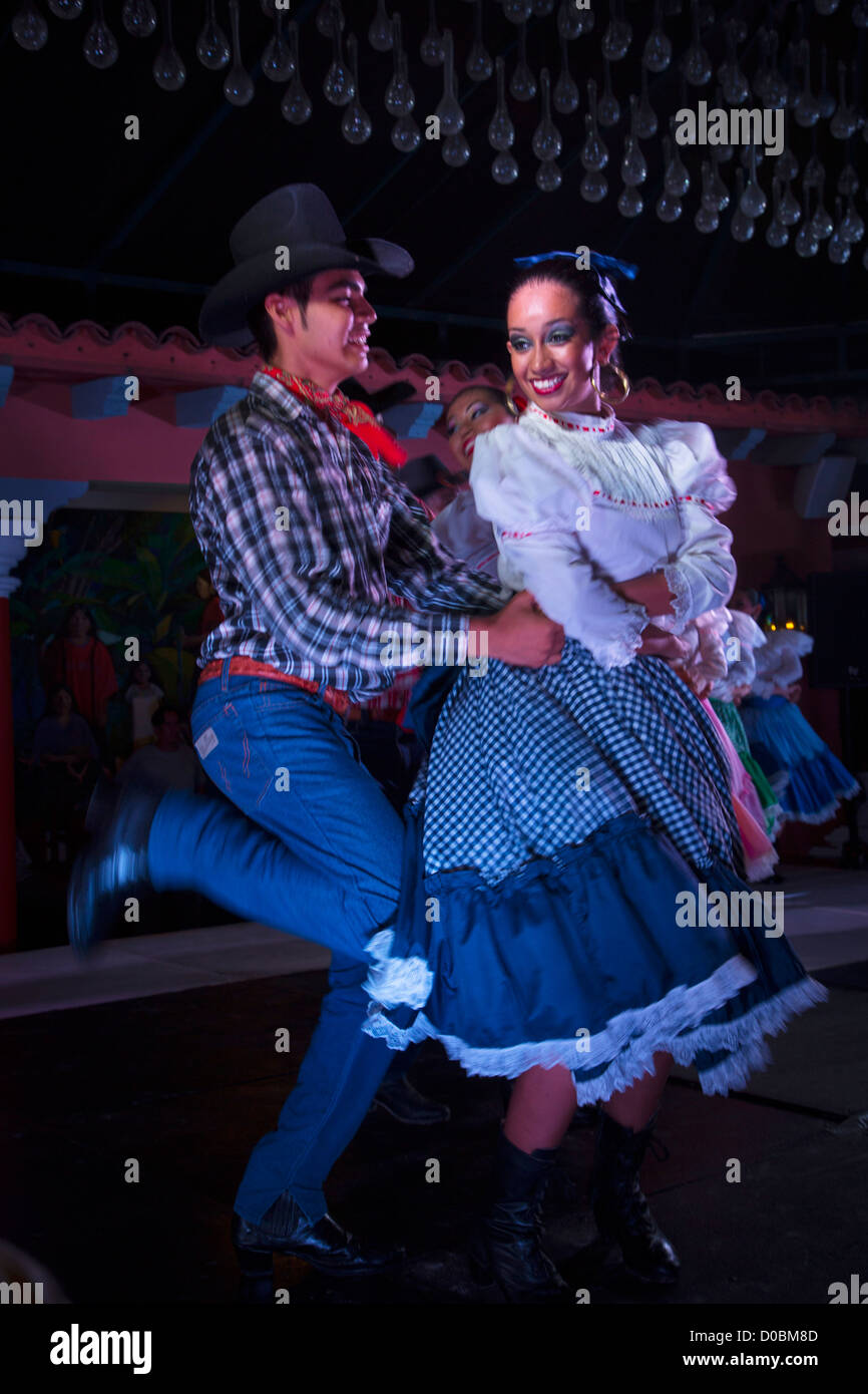 Mexican Traditional Folk, Dancing, Puerto Vallarta, Jalisco, Mexico - Stock Image