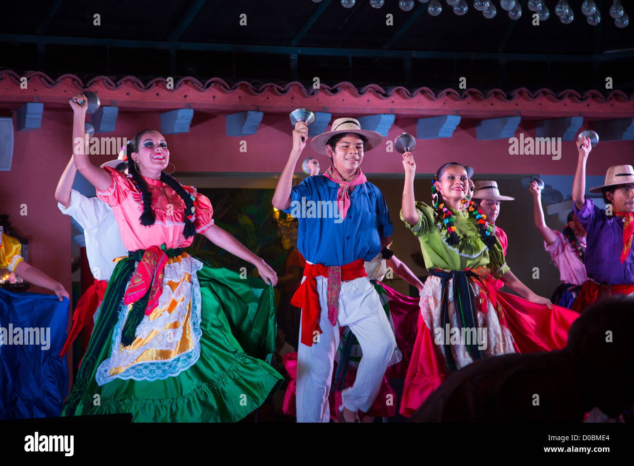 Mexican Traditional Folk, Dancing, Puerto Vallarta, Jalisco, Mexico Stock Photo