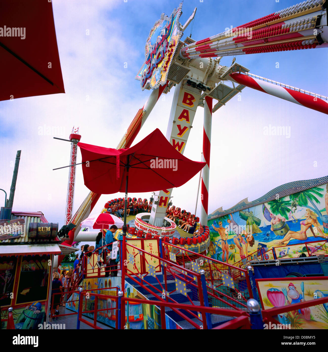 'Crazy Beach Party' Amusement Park Ride At Playland
