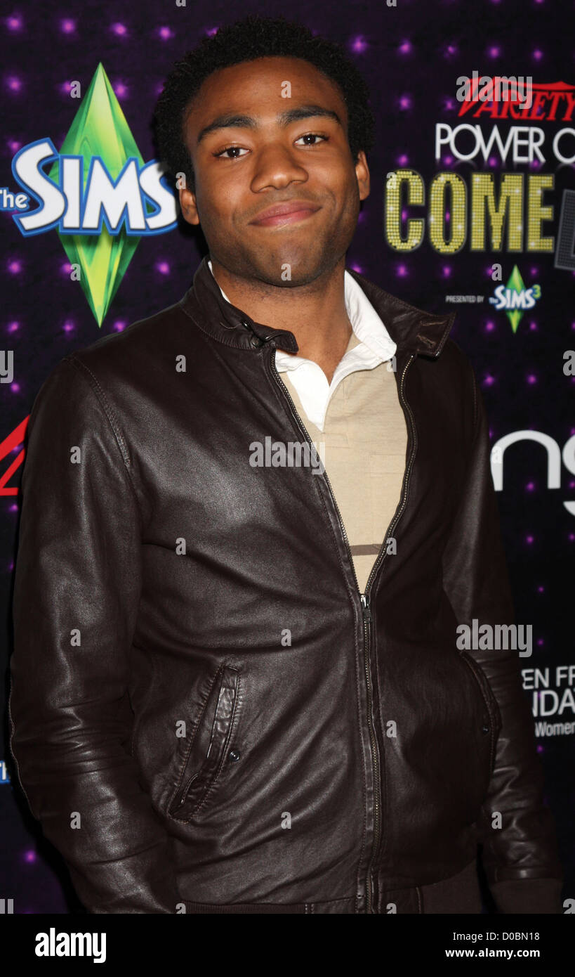 Donald Glover Variety's Power of Comedy presented by Sims 3 in Partnership with Bing at Club Nokia Los Angeles, - Stock Image