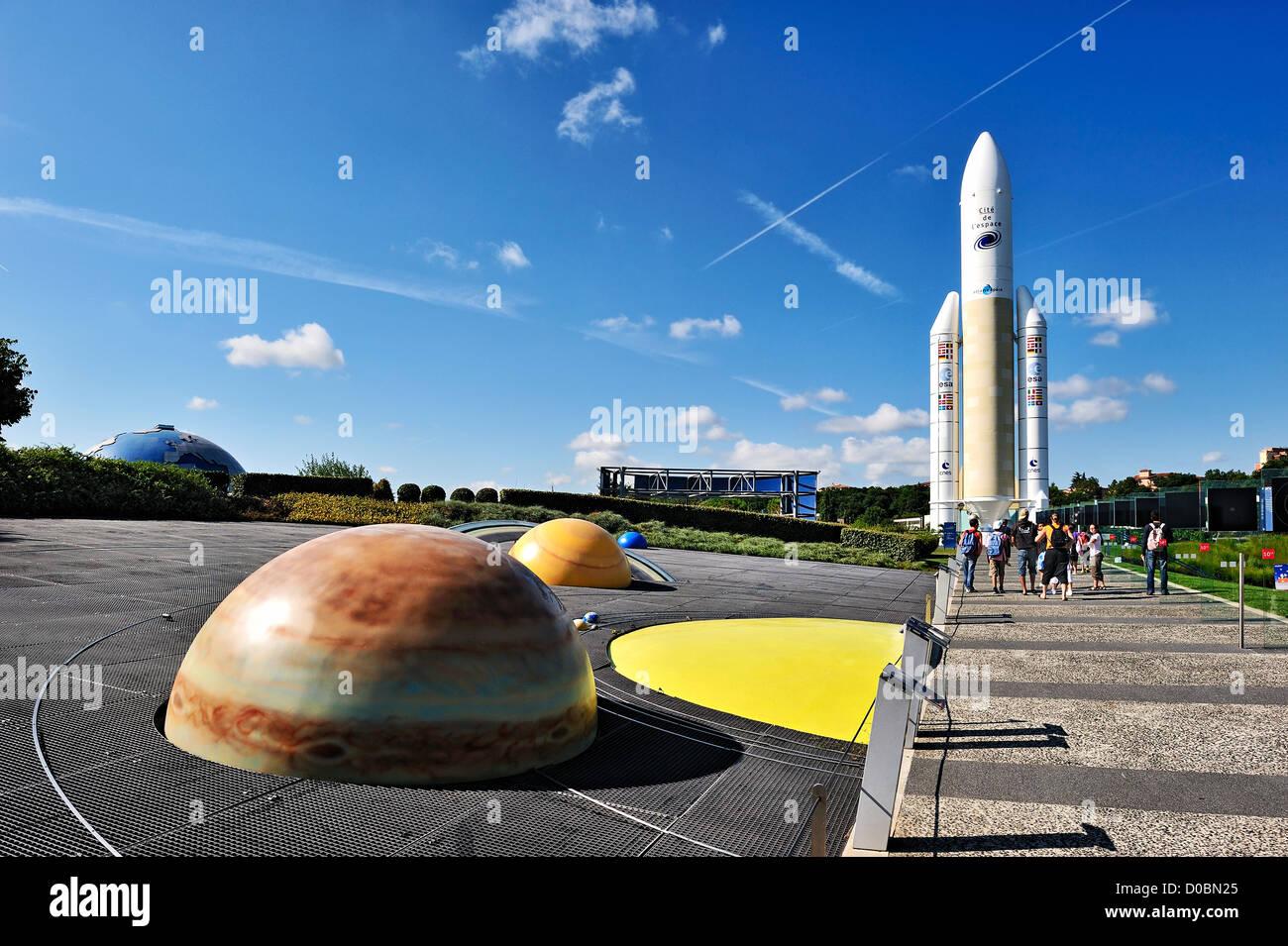 The Cite de l'Espace, Toulouse, France. - Stock Image