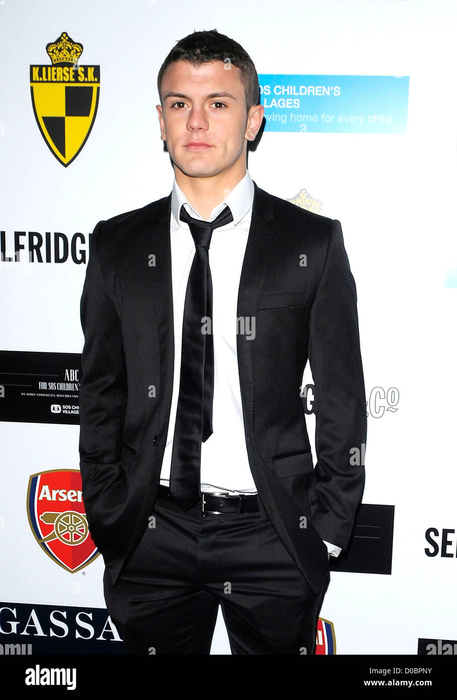 Jack Wilshere arriving at ABC SOS ball. London, England - 05.12.10 - Stock Image