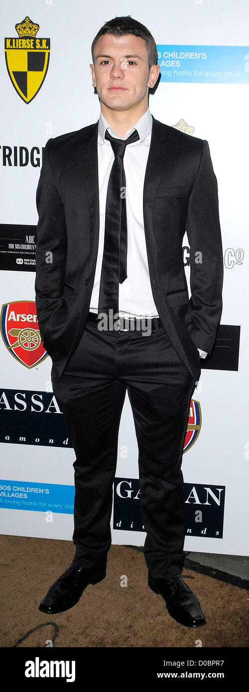 Jack Wilshere arriving at ABC for SOS ball. London, England - 05.12.10 - Stock Image