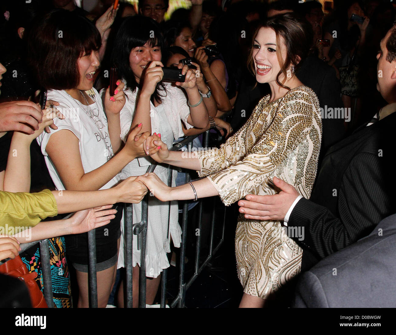 Anne Hathaway Ziegfeld Theatre: Love And Other Drugs Stock Photos & Love And Other Drugs