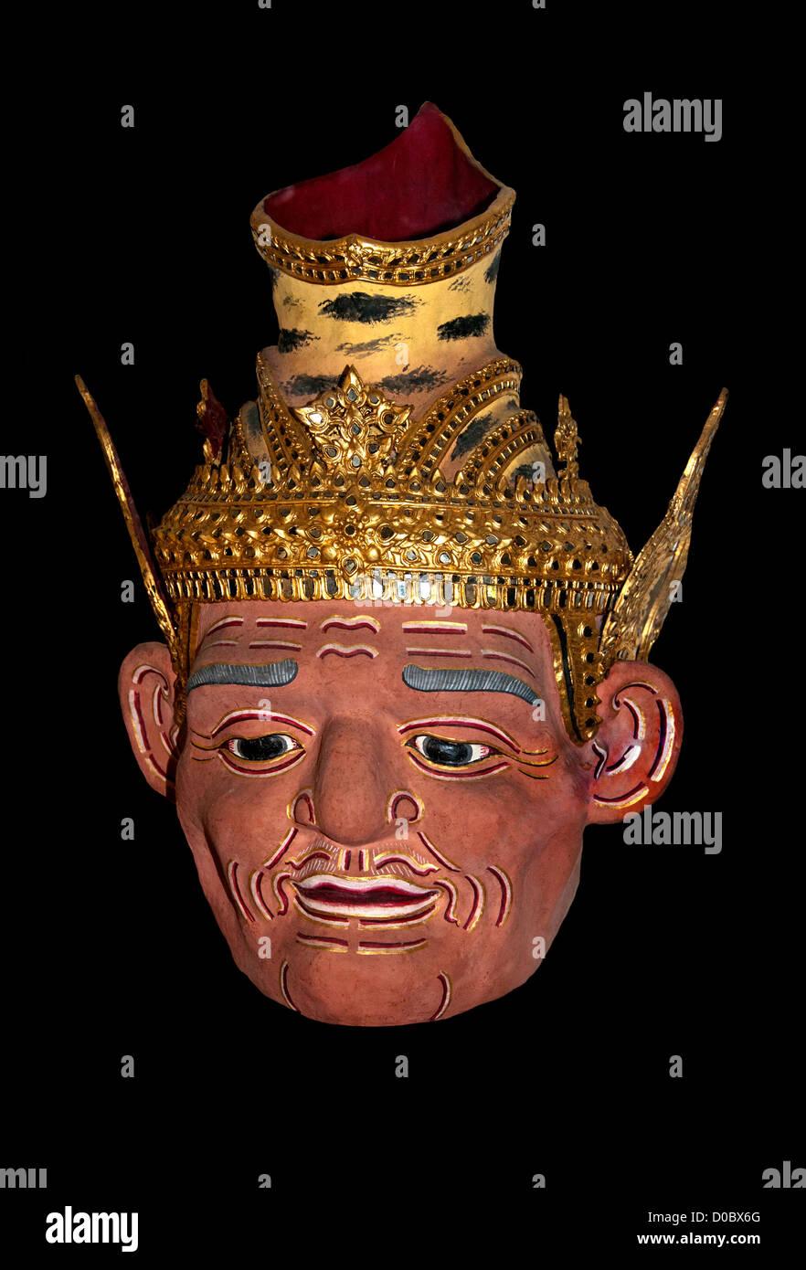 Khon Mask  National Museum Bangkok Thailand - Stock Image