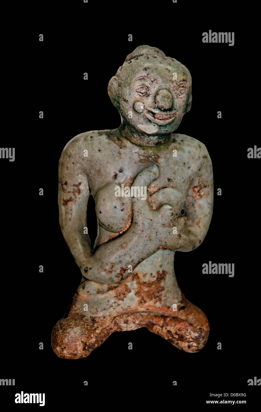 Sangkhalok small maternity figures protect Pregnant women from evil spirits Sukhothai art 14-15th Cent  National - Stock Image