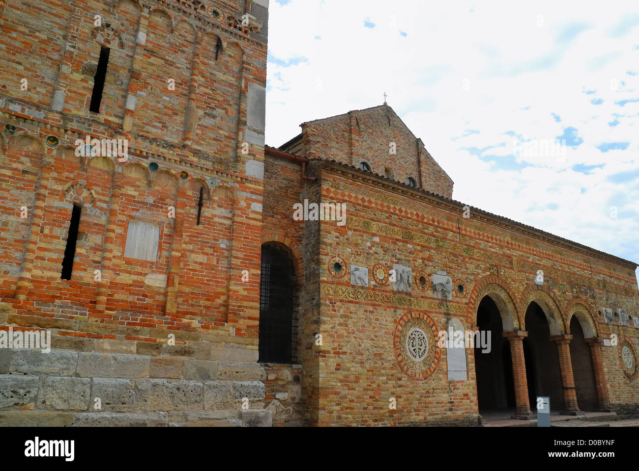 Pomposa Abbey located in the municipality of Codigoro in the province of Ferrara is an abbey dating back to the - Stock Image