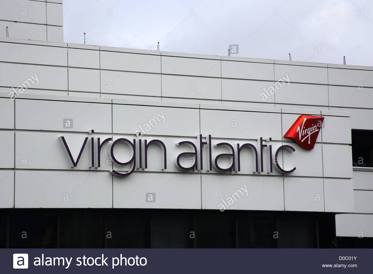 virgin atlantic in the industrial area of Manor Royal  Crawley West Sussex - Stock Image