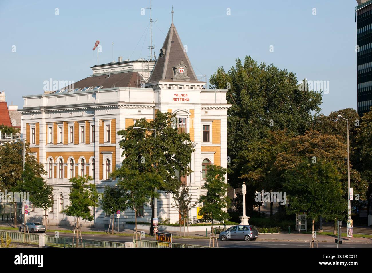 Österreich, Wien III, Radetzkystraße 1, Wiener Rettung - Zentrale, - Stock Image