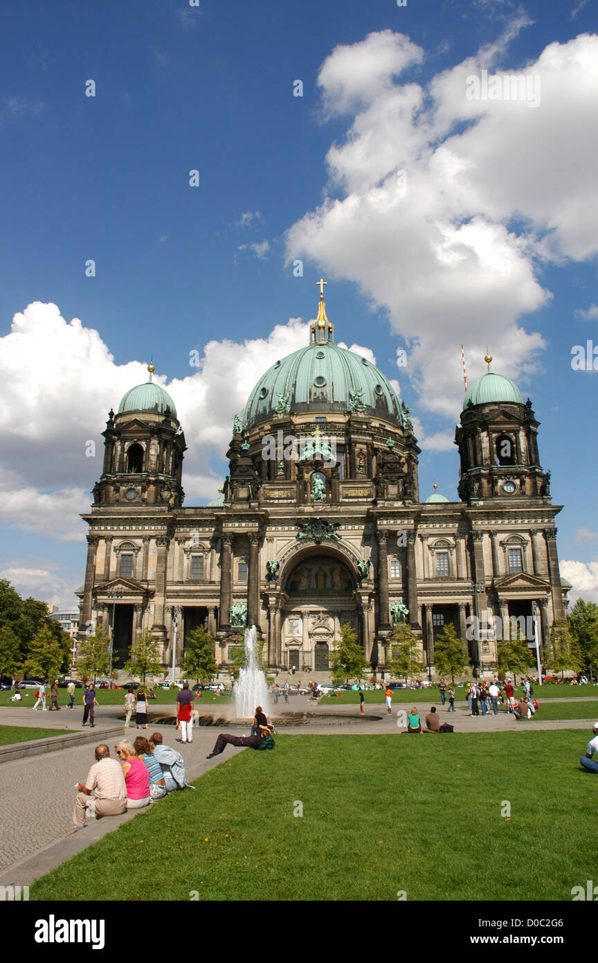Germany. Berlin. Cathedral (Berliner Dom) also Supreme Parish and Collegiate Church. View from the west. - Stock Image