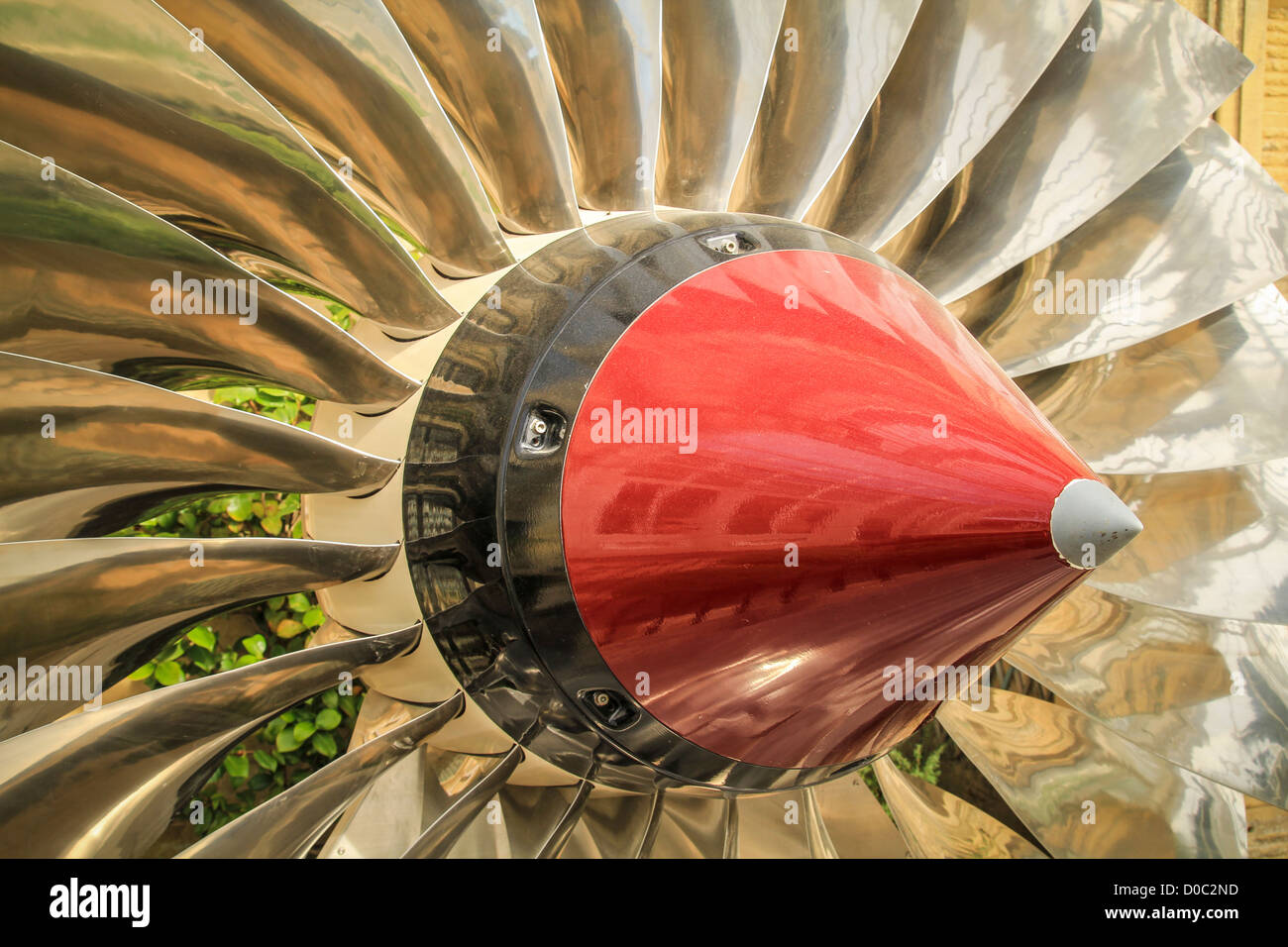 Jet Engine Fan - Stock Image