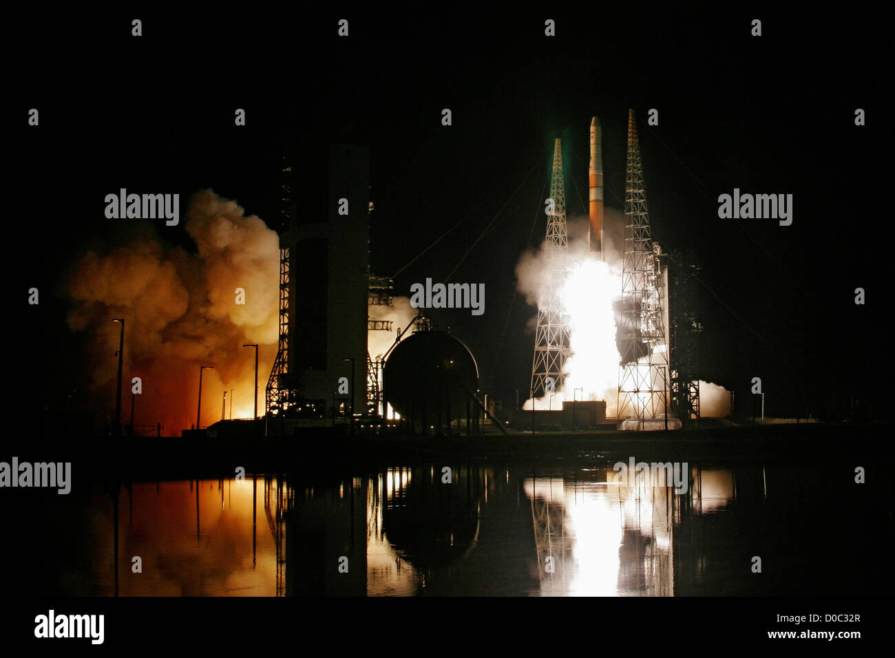 A Delta IV rocket launches the GOES-O (Geostationary Operational Environmental Satellite) weather satellite for - Stock Image