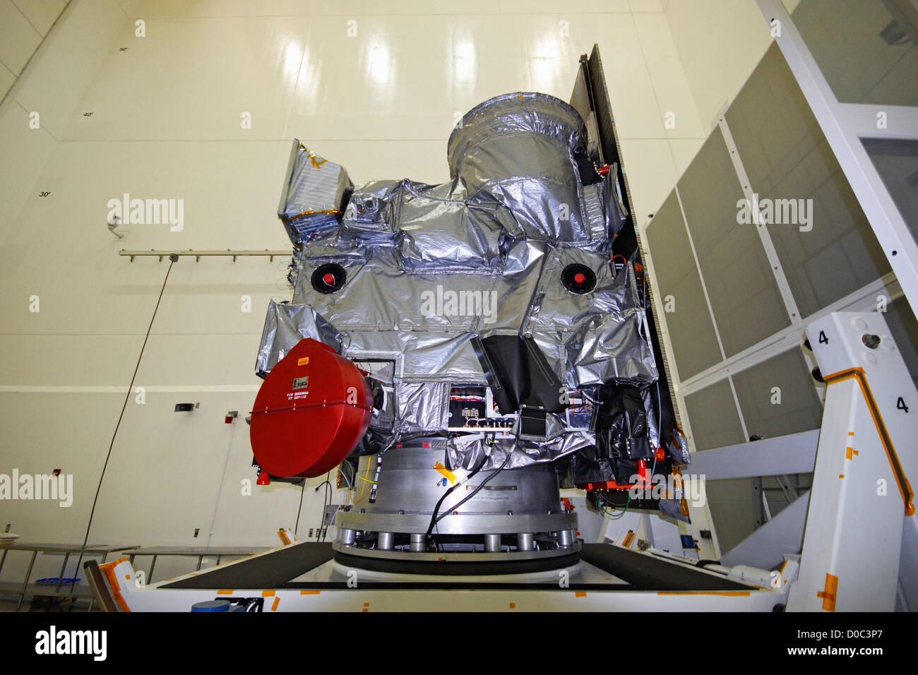 NASA NOAA's GOES-O (Geostationary Operational Environmental Satellite) weather satellite is prepared launch - Stock Image