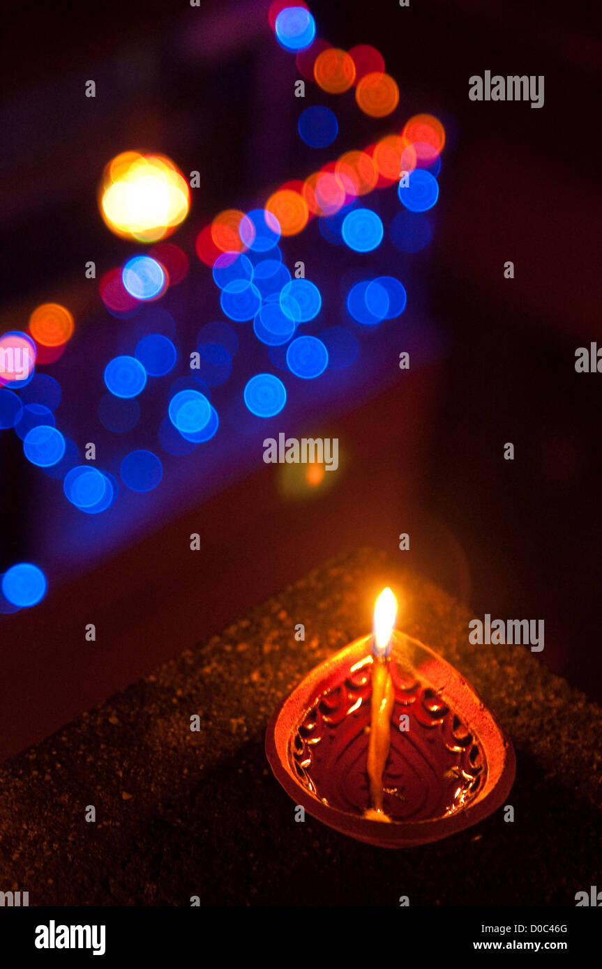 Diwali lamp - Stock Image