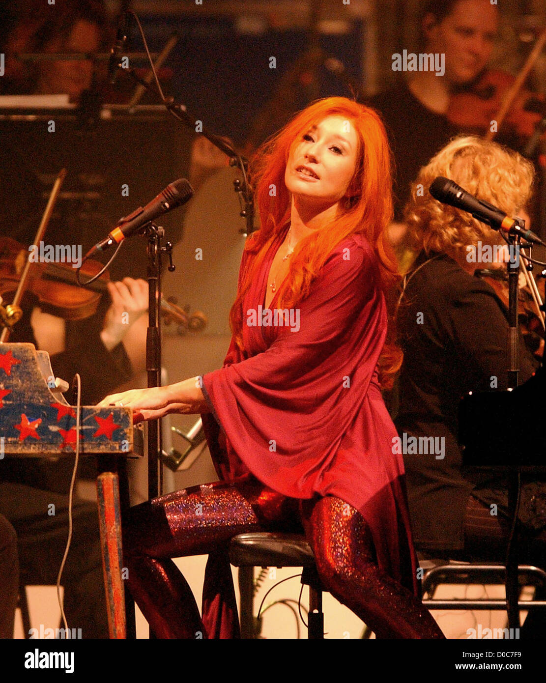 Tori Amos performs during her sold out concert with the Metrople Orchestra at the Heineken Music Hall. Amsterdam, Stock Photo