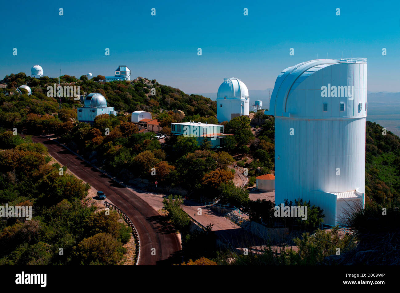 A view of the 2.3-meter Bok telescope dome at Kitt Peak National Observatory, Arizona - Stock Image