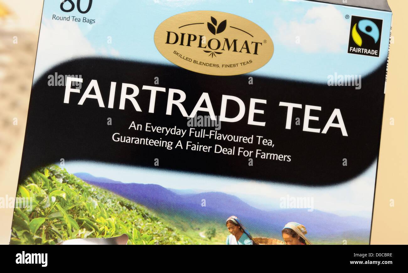 fairtrade tea mark - Stock Image