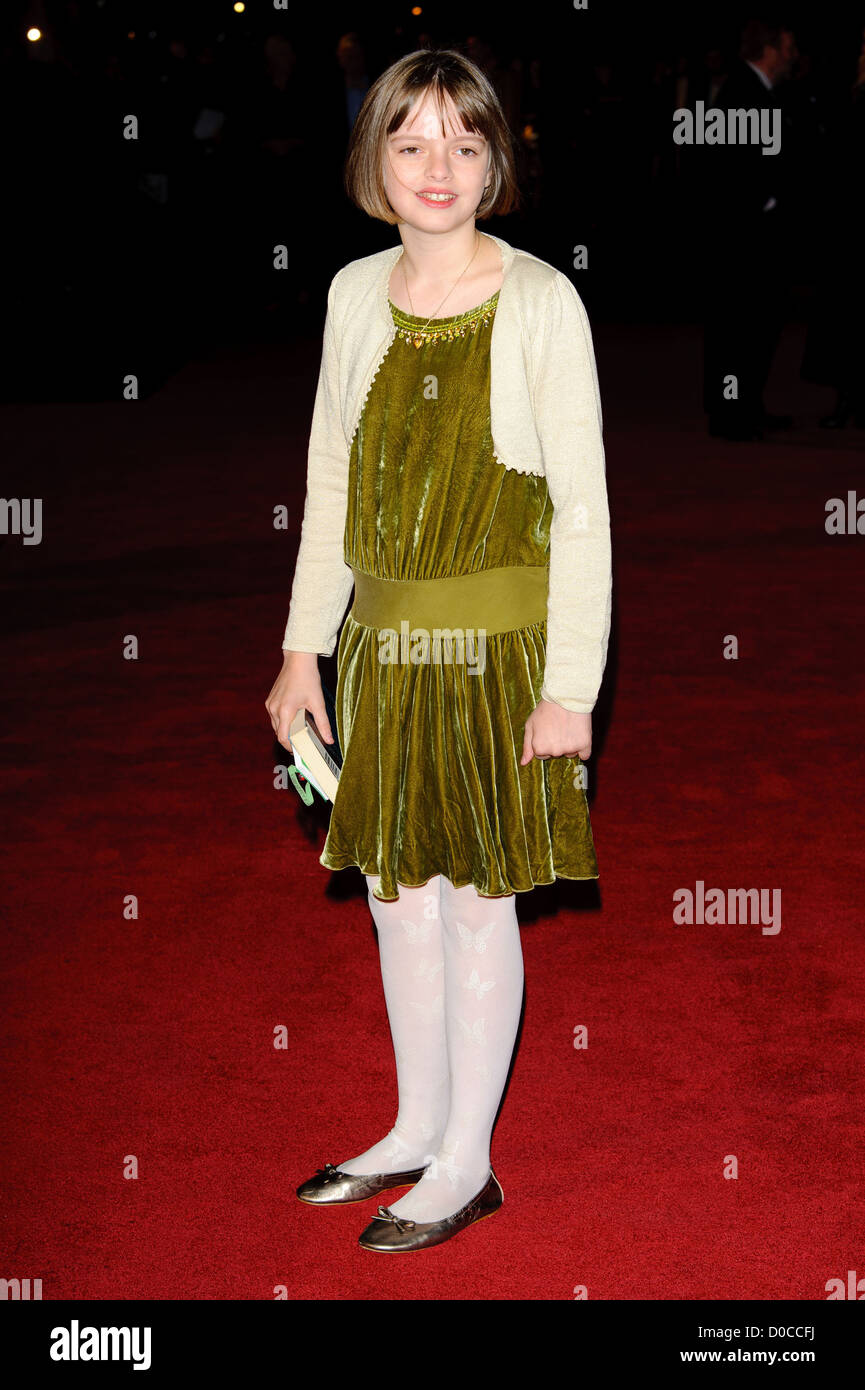 Freya Wilson attends the American Express Gala Screening of 'The King's Speech' during the th BFI London - Stock Image