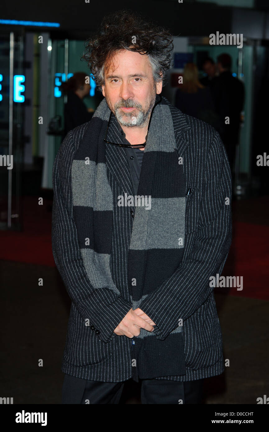 Tim Burton attends the American Express Gala Screening of 'The King's Speech' during the 54th BFI London - Stock Image