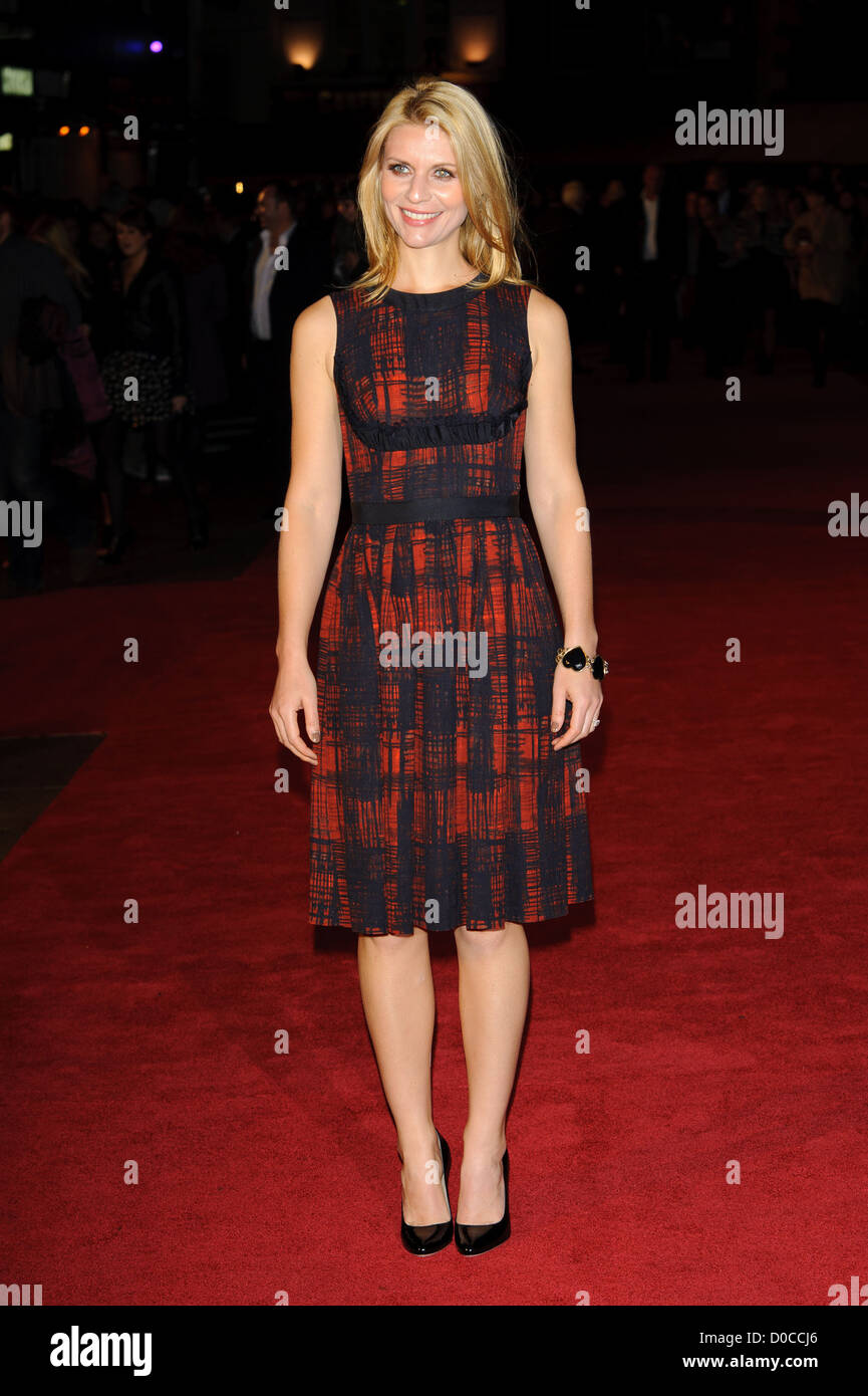 Claire Danes attends the American Express Gala Screening of 'The King's Speech' during the 54th BFI - Stock Image