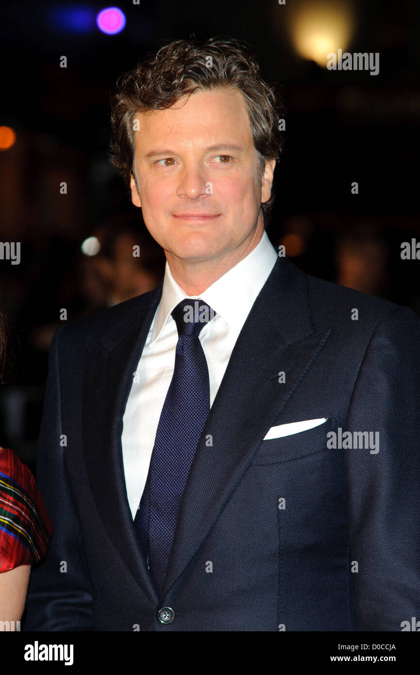 Colin Firth attends the American Express Gala Screening of 'The King's Speech' during the 54th BFI London - Stock Image