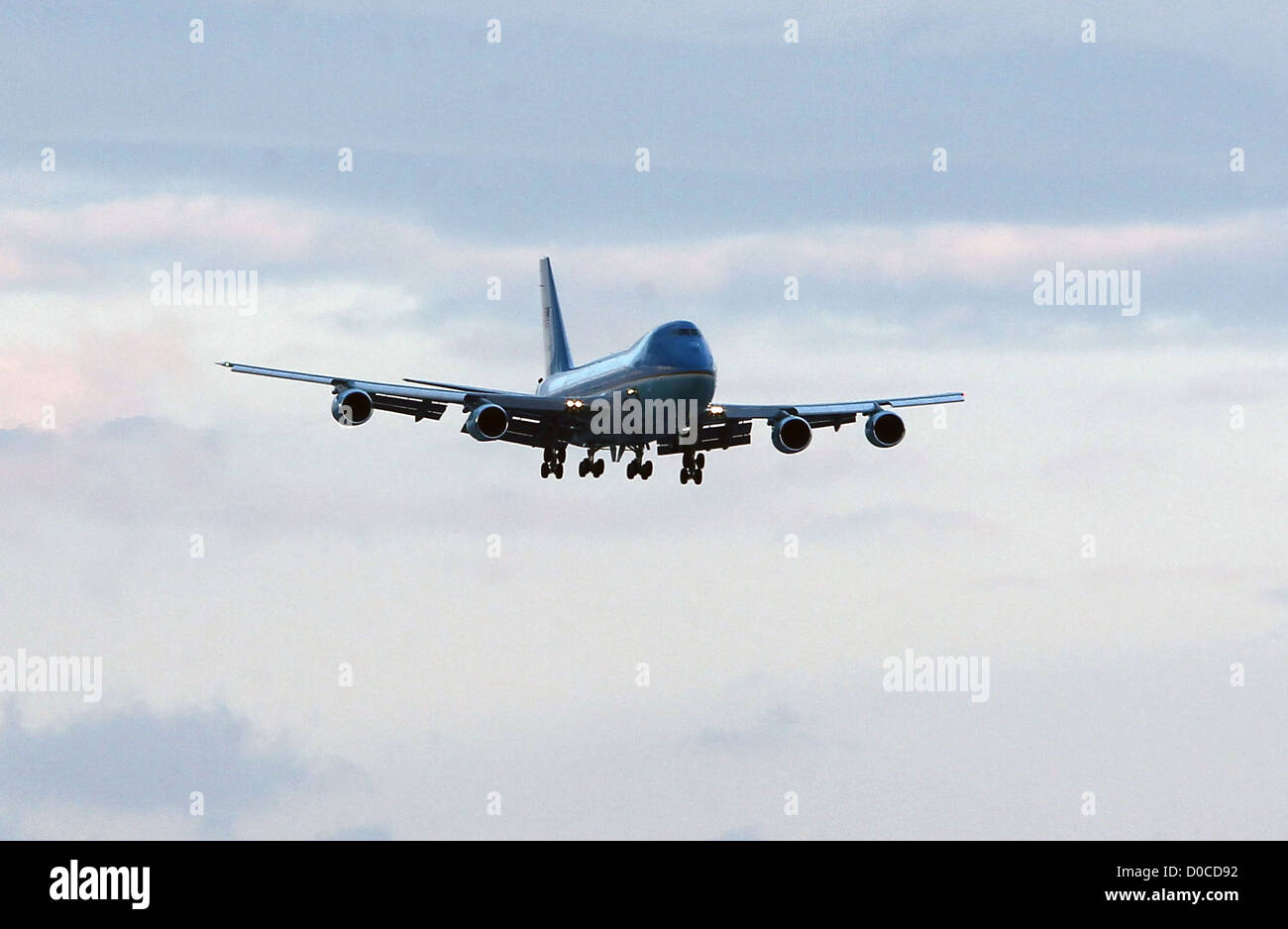 Air Force One President Barack Obama arrives at McCarran International Airport Las Vegas, Nevada - 22.10.10 - Stock Image