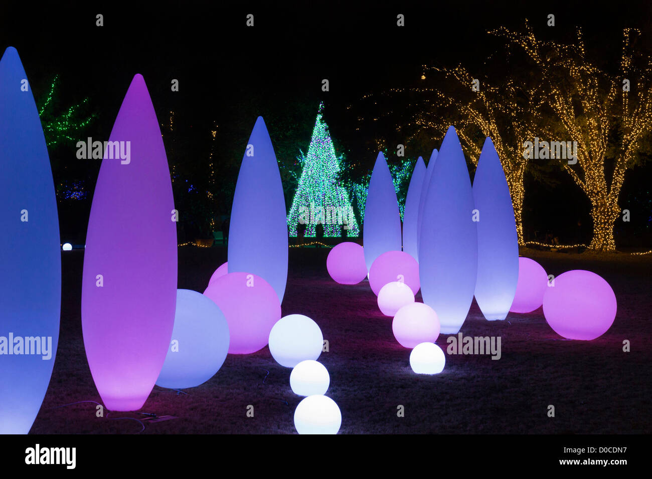 Atlanta Botanical Garden (Georgia, USA) launched holiday Christmas ...