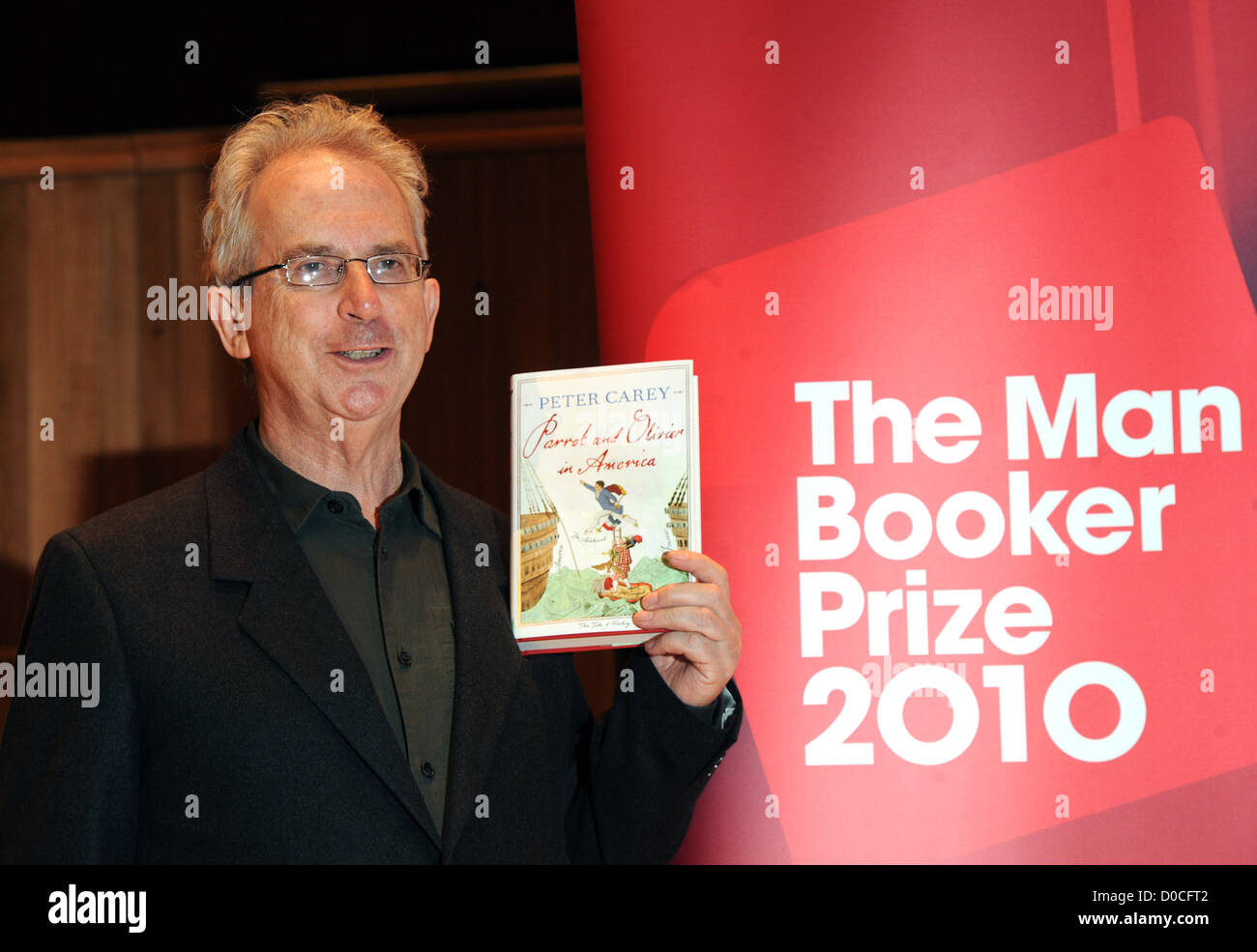 Peter Carey 'Parrot and Olivier in America' 2010 Man Booker Prize for Fiction shortlisted authors photocall - Stock Image