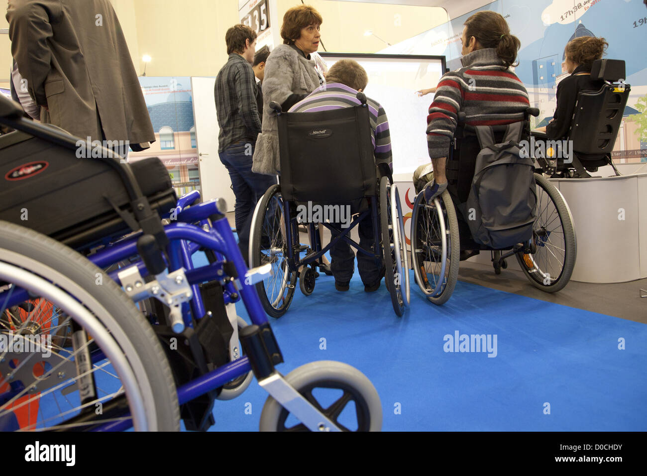 STAND FOR APF (ASSOCIATION FOR PARALYZED FRANCE) AMBIANCE AT MAYORS' CONGRESS PORTE DE VERSAILLES PARIS (75) - Stock Image