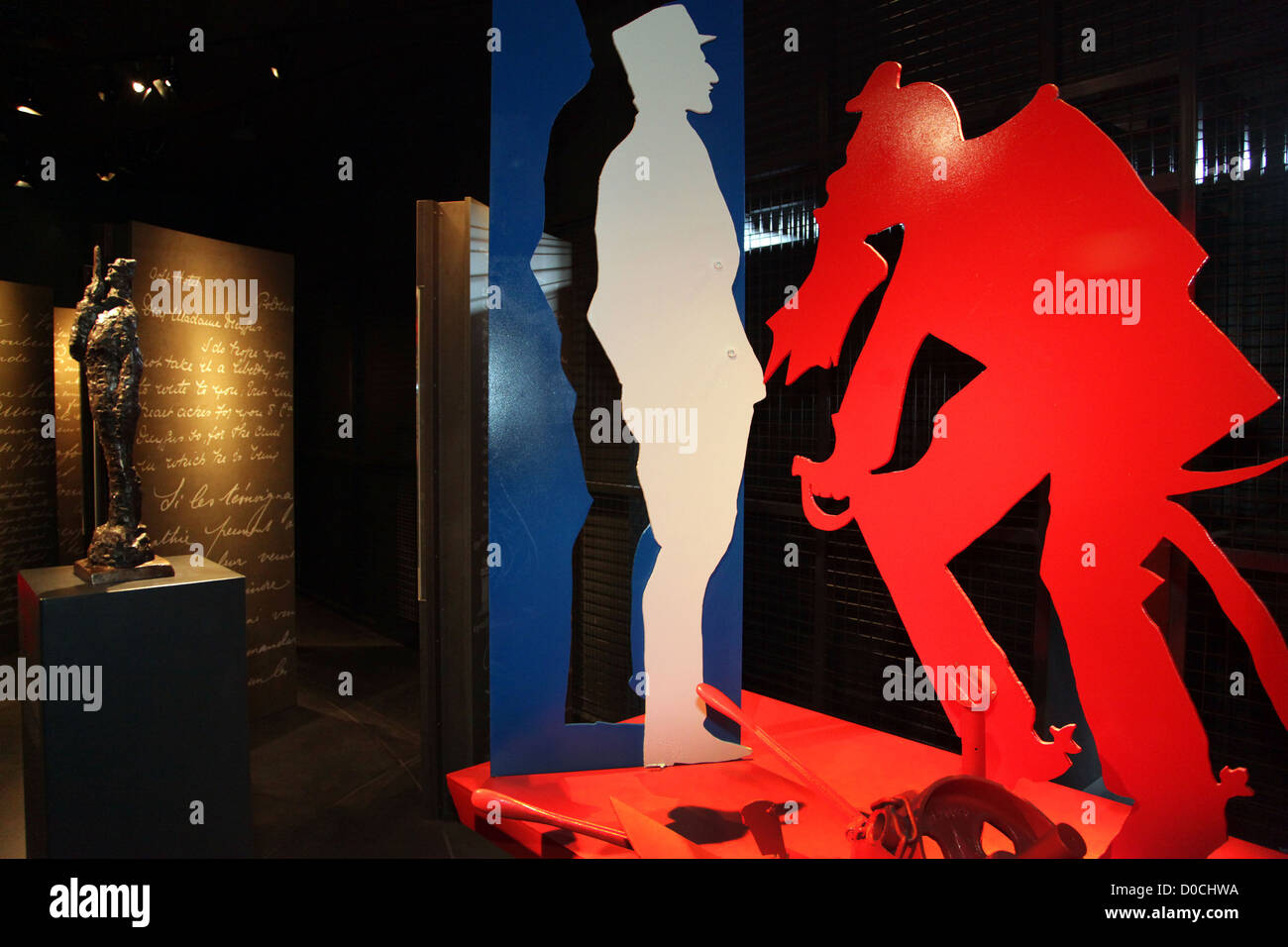 SCULPTURE IN REFERENCE TO THE DREYFUS AFFAIR MUSEUM OF BRITTANY RENNES ILLE-ET-VILAINE (35) FRANCE - Stock Image