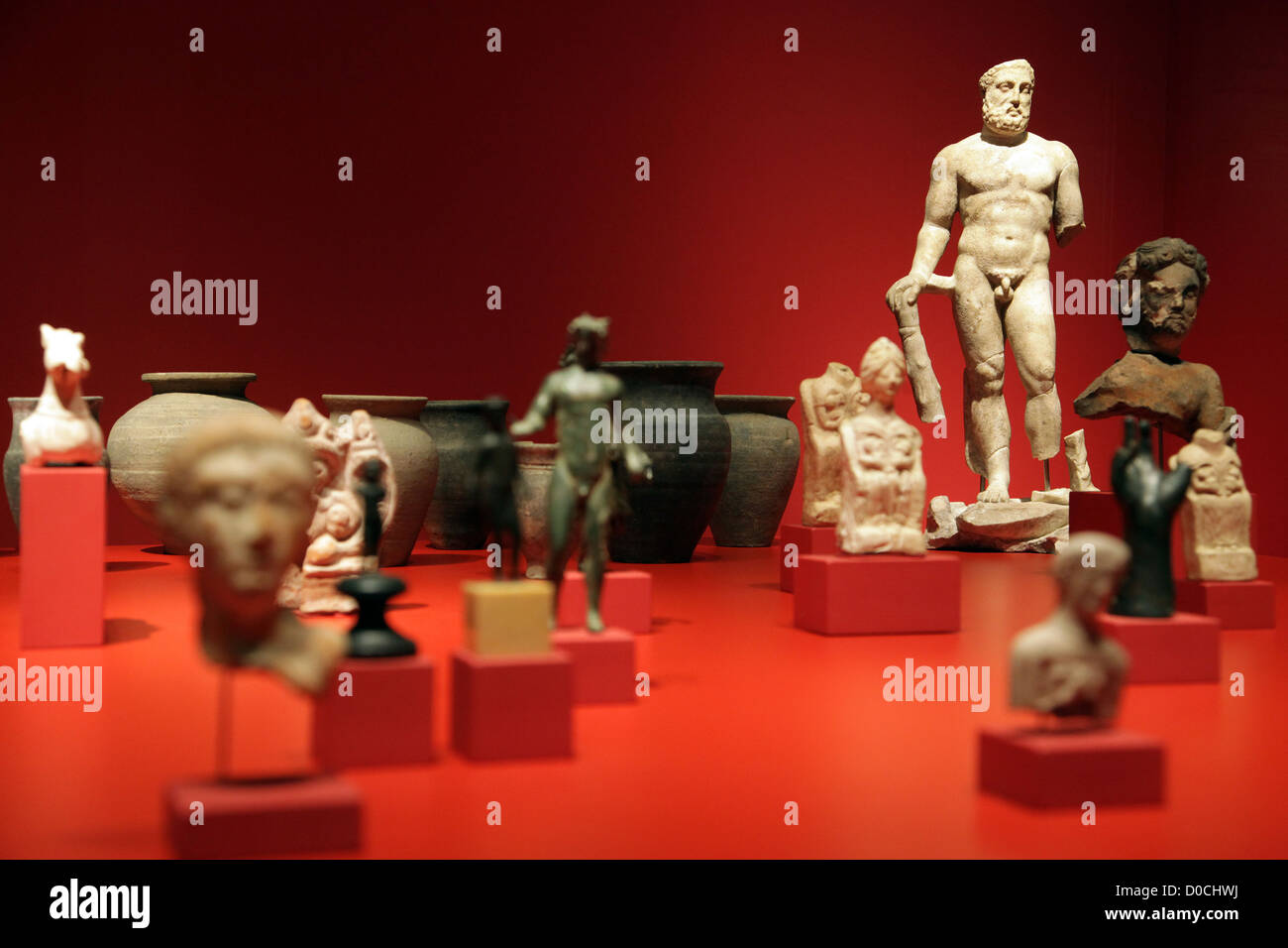 PERMANENT COLLECTION (ARCHAEOLOGY AND PREHISTORY) MUSEUM OF BRITTANY RENNES ILLE-ET-VILAINE (35) FRANCE - Stock Image