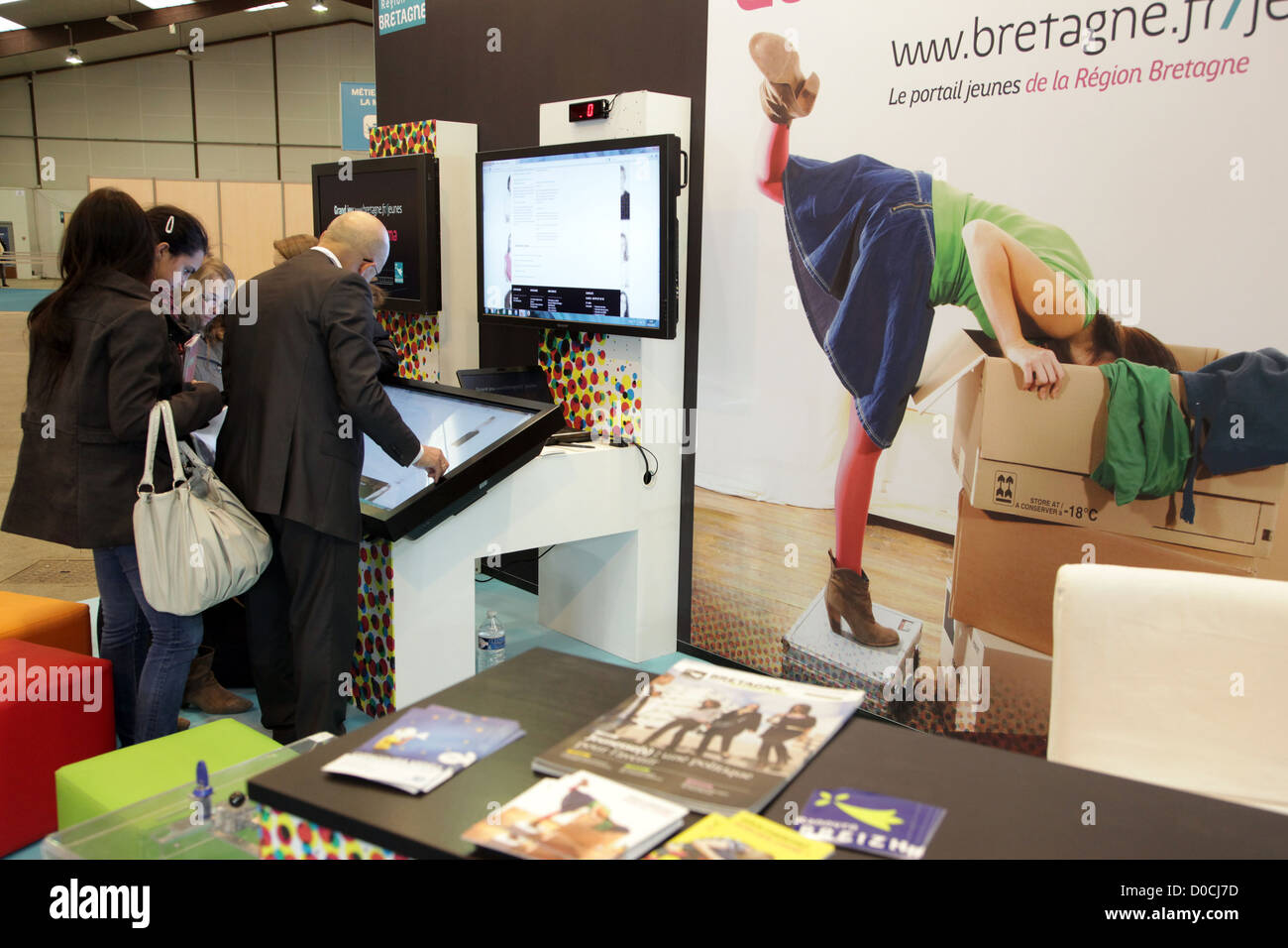 INFORMATION FORUM 42ND OLYMPIADES DES METIERS IN BRITTANY RENNES FRANCE - Stock Image