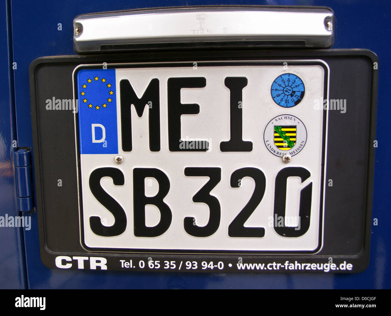 A car number plate from Meissen, Sachsen, Saxony, Germany - Stock Image