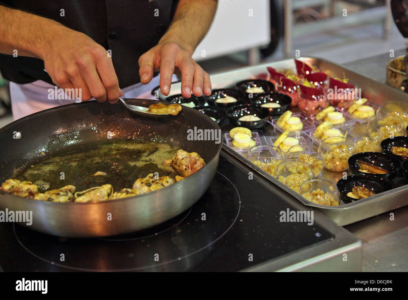 STUDENT IN COOKING 42ND OLYMPIADES DES METIERS IN BRITTANY RENNES FRANCE - Stock Image