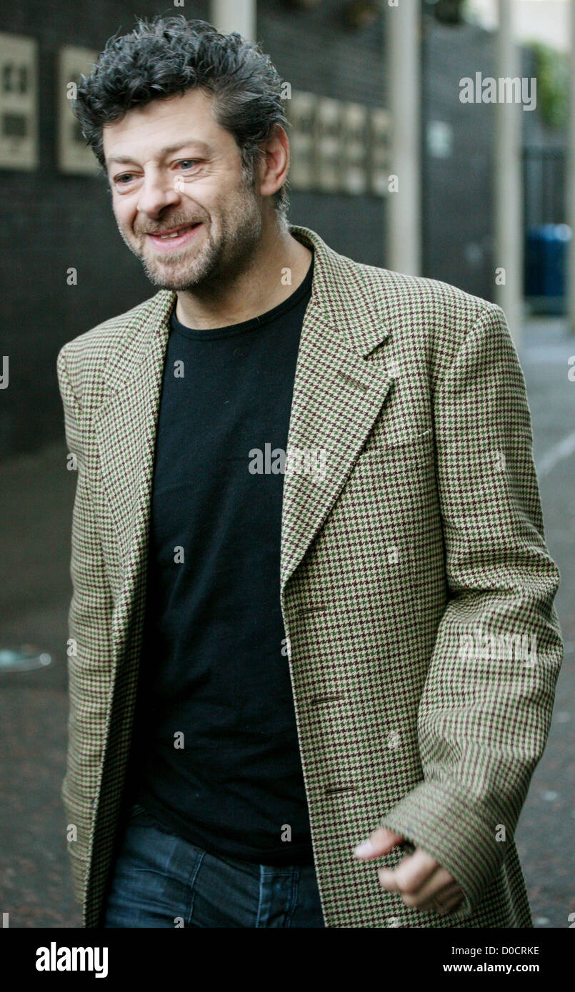 Andy Serkis outside the ITV studios London, England - Stock Image