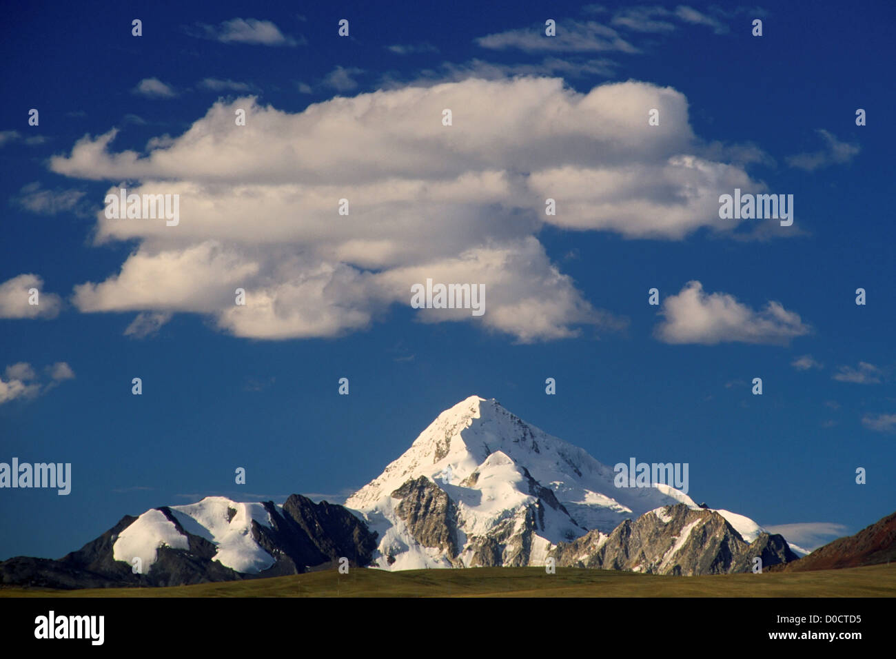 Nevado Huayna Potosi Rises Above the Bolivian Altiplano - Stock Image