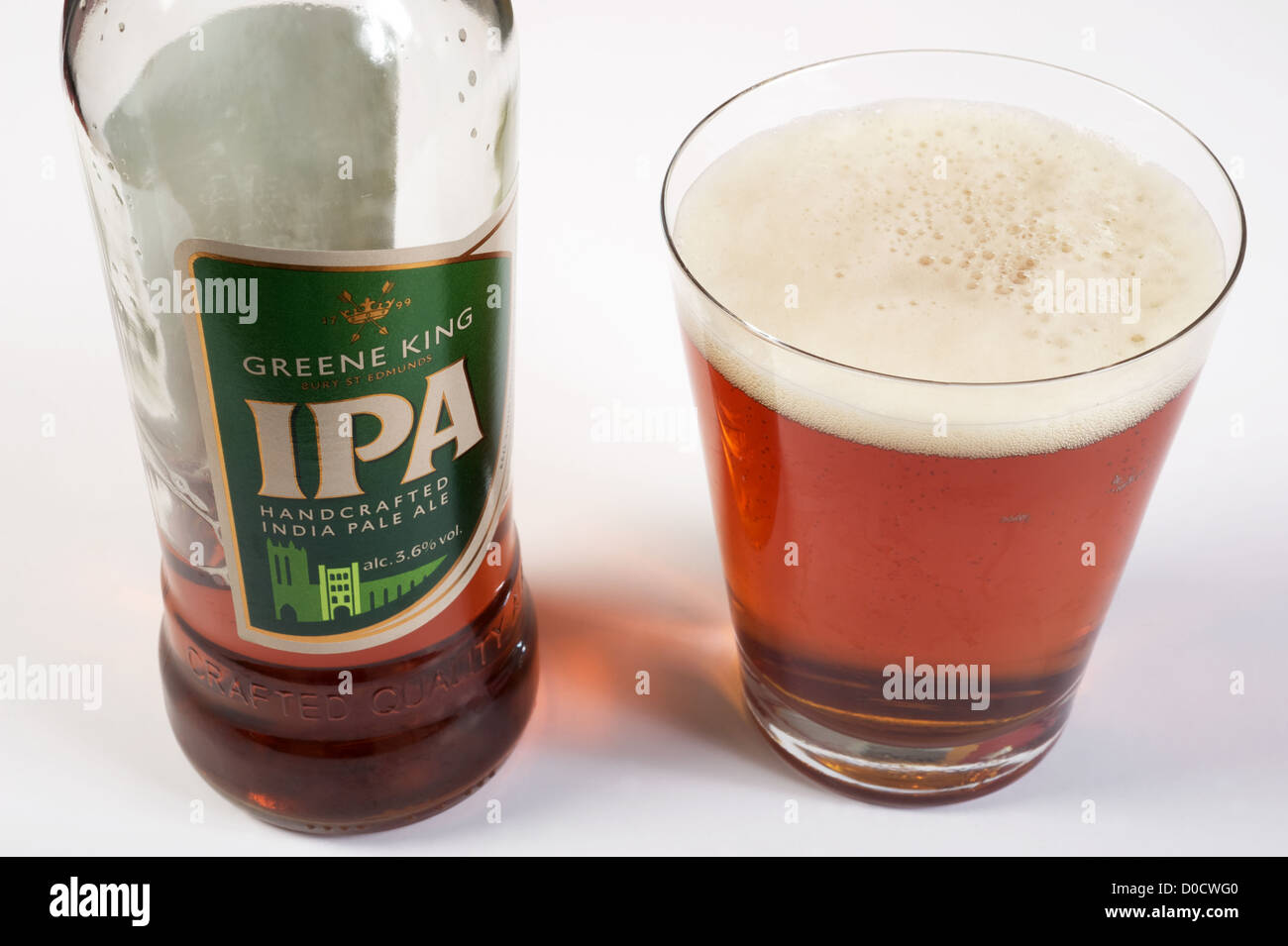 Green King IPA (India Pale Ale) - Stock Image
