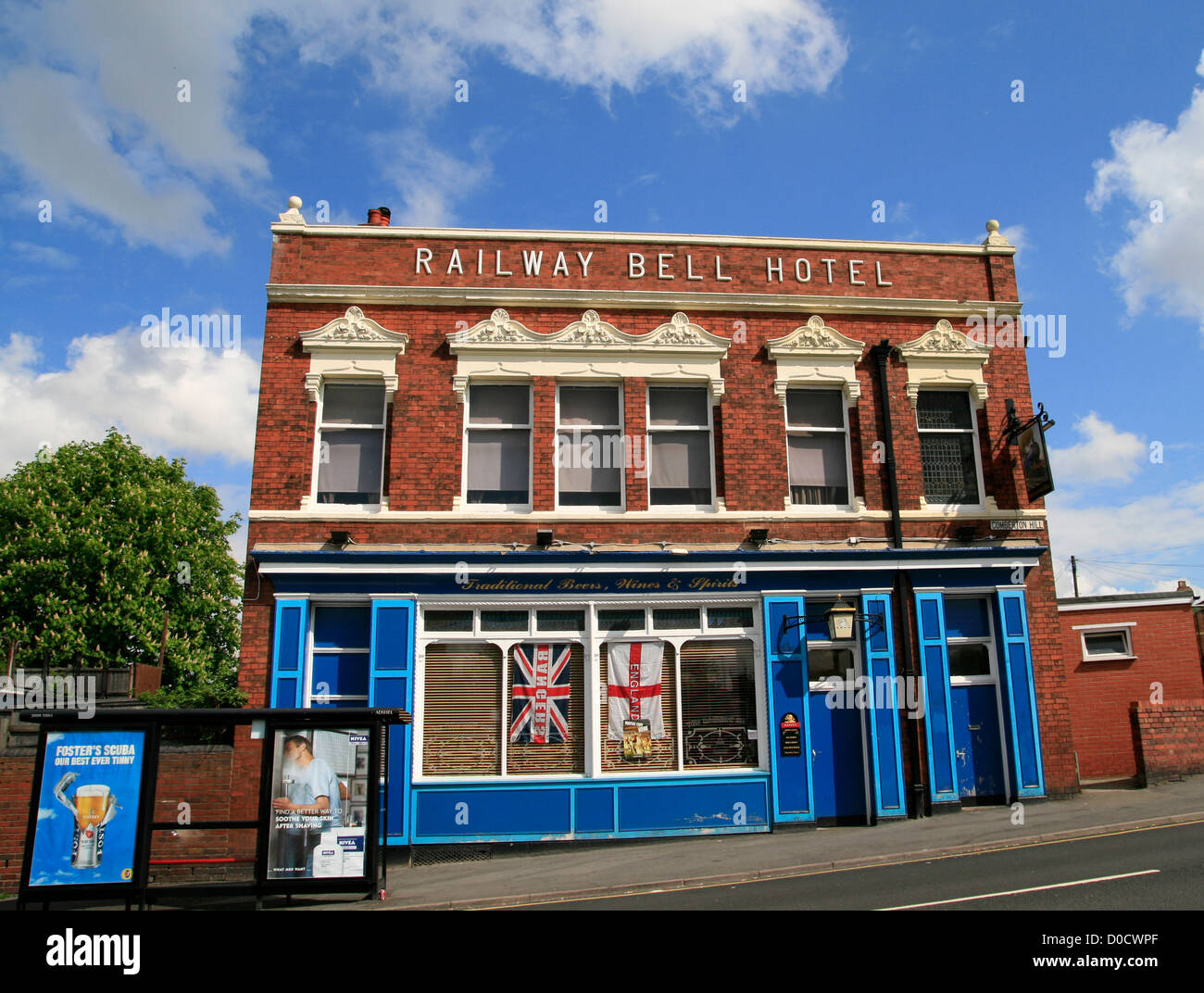 Railway Bell Inn Kidderminster Worcestershire England UK - Stock Image