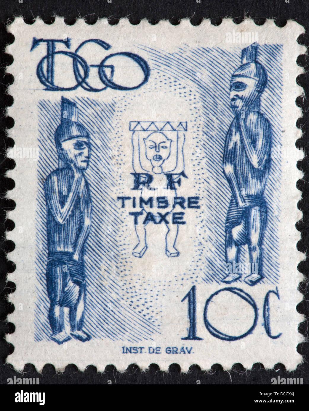Togo postage stamp - Stock Image
