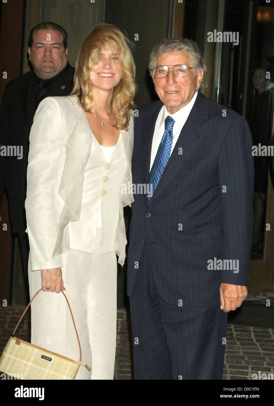 Susan Crow and Tony Bennett Screening of 'Conviction' held at the Tribeca Grand Hotel New York City, USA - Stock Image